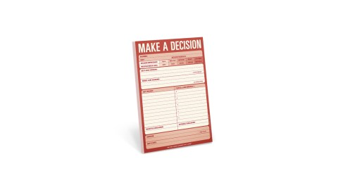 Make a Decision pad is a great product for people with ADHD