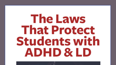 The educational laws that protect students with ADHD