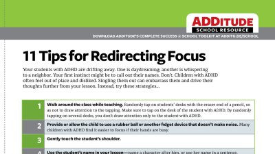 School strategies to improve focus and comprehension.
