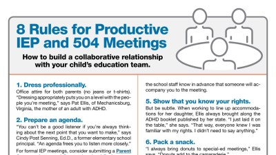 8 Rules for Productive 504 and IEP Meetings