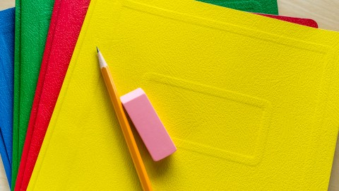 Brightly colored folders to solve the problem of missing homework