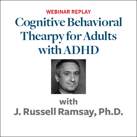 cognitive behavior therapy for adults with adhd