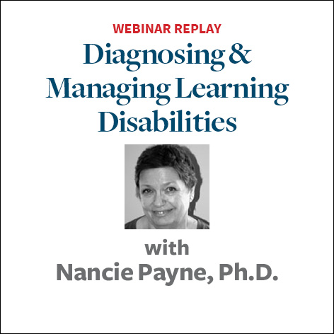diagnosing and managing learning disabilities