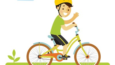 A boy with ADHD getting some exercise on a bicycle