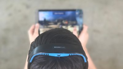 NeuroPlus headset and brain-training game