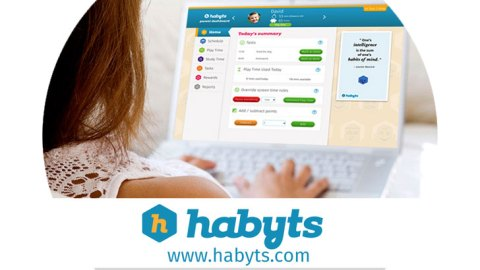 Habyts service for monitoring and limiting screen time