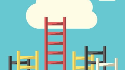 Ladders to a cloud representing finding success after an ADHD diagnosis