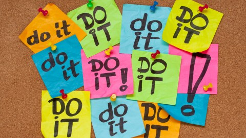 """Post-its that say """"DO IT!"""" to represent one of the best ADHD podcasts on productivity"""