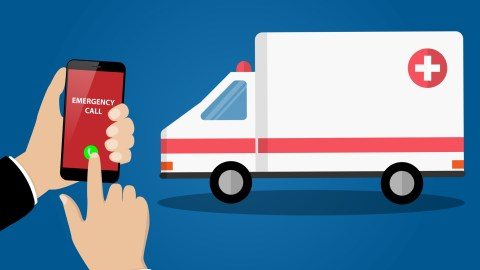 An illustration of calling an ambulance after taking ADHD medications