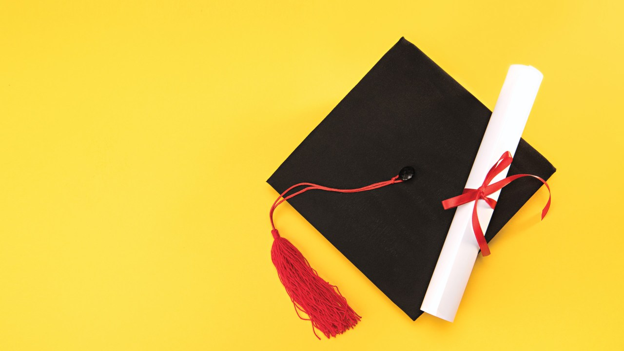 A college graduation hat worn by a student with ADHD who utilized accommodations