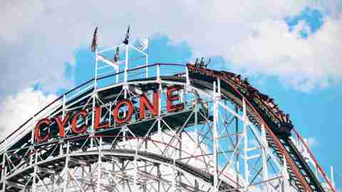 A roller coaster symbolizing extreme ADHD emotions
