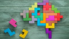 An image of a brain made of puzzle pieces symbolizes the complex nature of the ADHD brain.