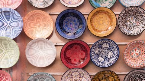 plates with elaborate patterns next to plates with simple concentric decorations represent the multisensory nature of adhd communication