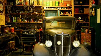Clutter in the garage of a man with ADHD