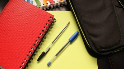 School supplies used to describe organization