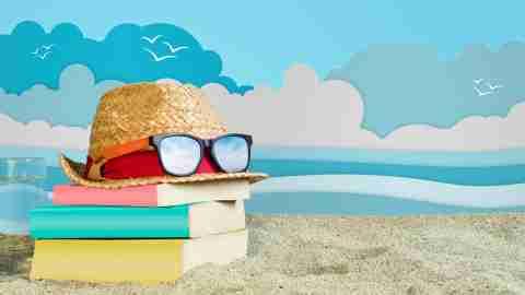 Book, Textbook, Reading, Women, Summer Holiday