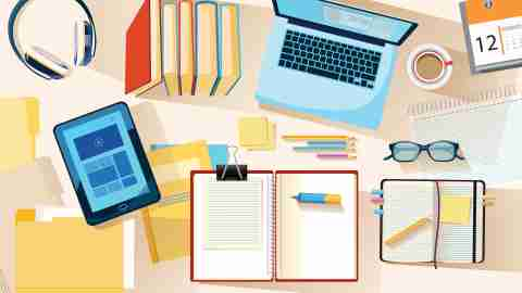 Studying and Education Concept Vector Illustration