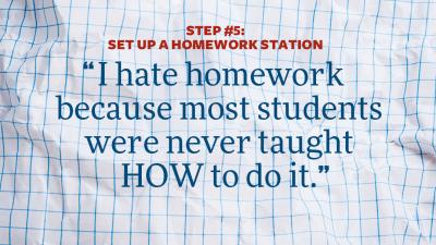 """I hate homework"" quote"
