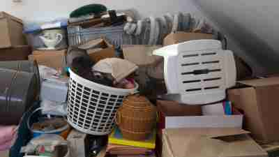 Pile of items in a home