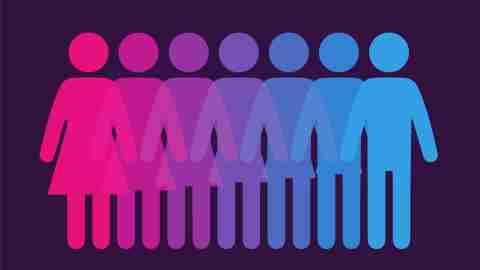 gender identity concept - an illustration of the gender spectrum