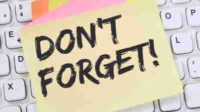 adhd reminder post it note not to forget