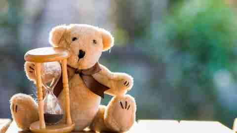 Teddy Bear with an hourglass