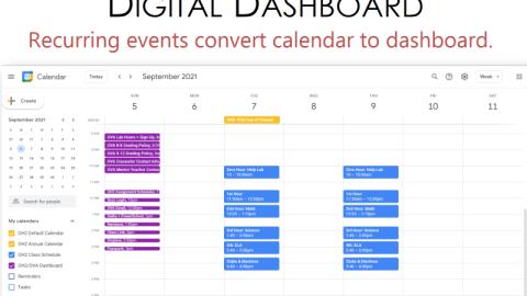 digital dashboard by www.studyskills.com