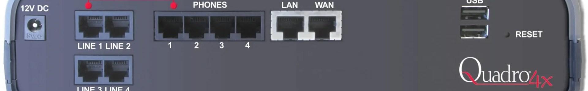 Quadro 4x / 4 FXO – מרכזיה