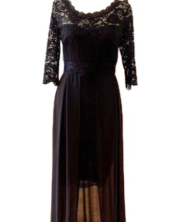 lace dress with overskirt