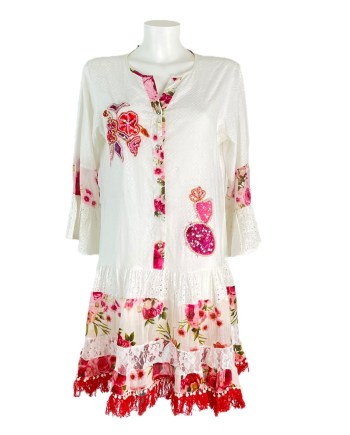 Ibiza dress red white