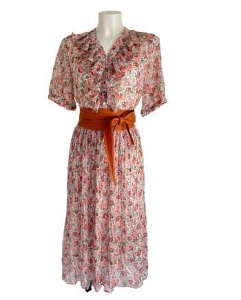 mille fleur plisse dress