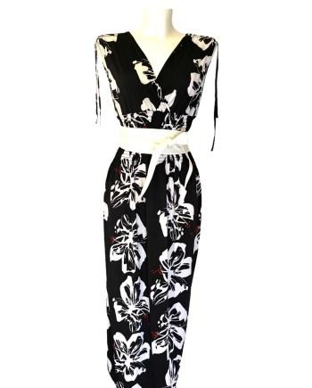 zomerdress black white