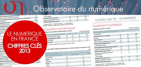 Le numérique gagne du terrain en France.