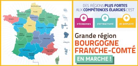 La région Bourgogne Franche Comté en marche !