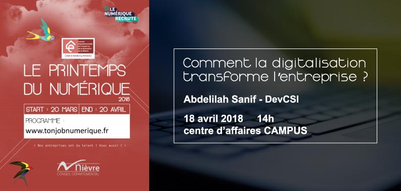 Printemps du Numérique : la digitalisation des entreprises expliquée par le directeur de DevCSI