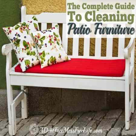 How To Clean Patio Furniture   A Mess Free Life How To Clean Patio Furniture
