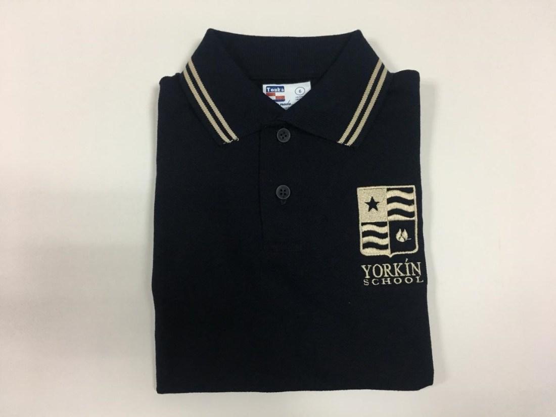 Yorkín - Camisa Polo Piqué Azul - 2019