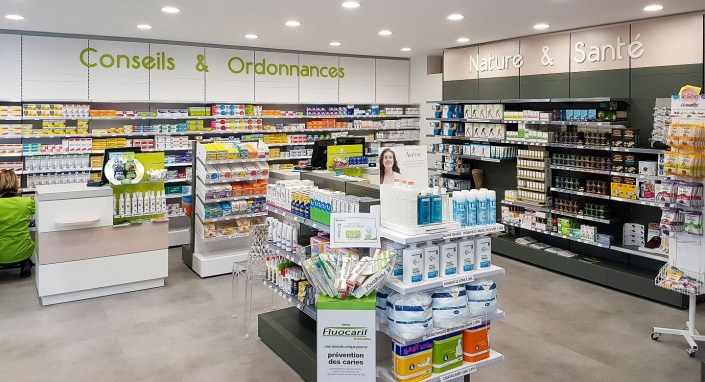 Pharmacie rénovée par Adeco Breizh à Kervadec
