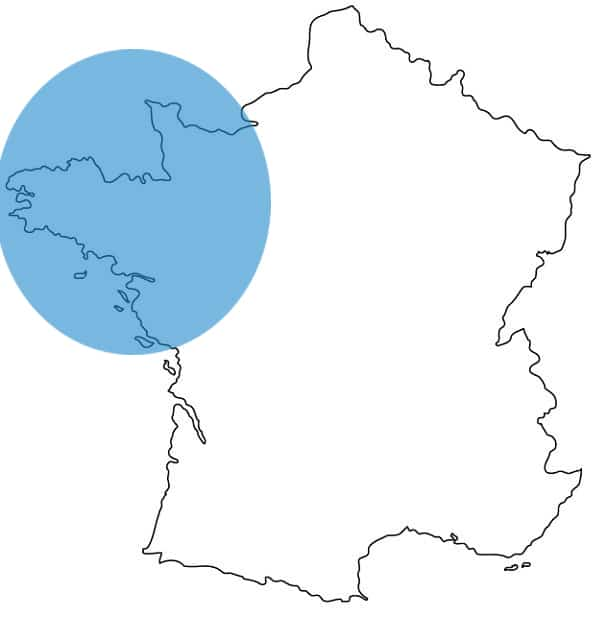 Zone d'intervention Adeco Breizh