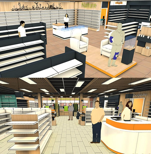 Evolution constante en matière d'ergonomie, d'esthétisme et de merchandising de nos aménagement d'espaces professionnels et commerciaux