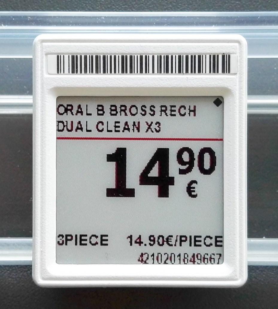 Etiquette électronique e-paper fournie par Adeco Breizh