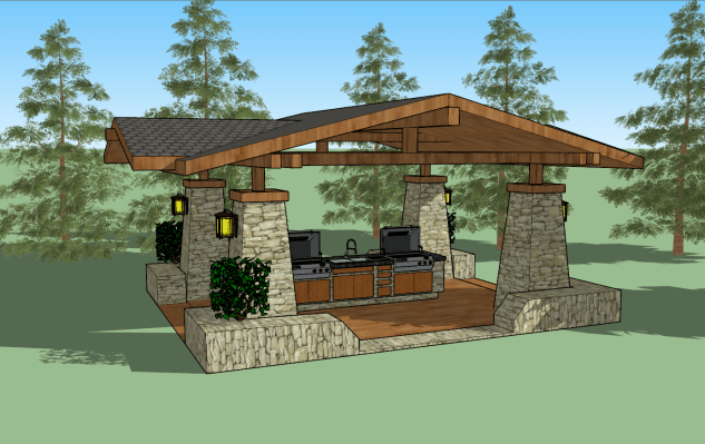 Hume - BBQ Structure Prelim Rendering