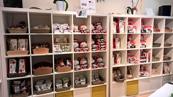 Exposición de productos Ciao Carb