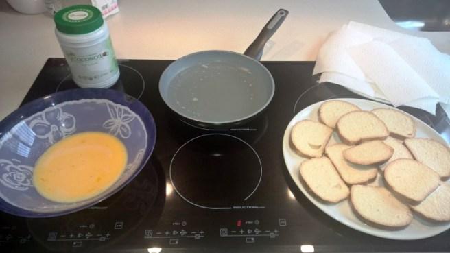 Las torrijas se fríen en Aceite de Coco