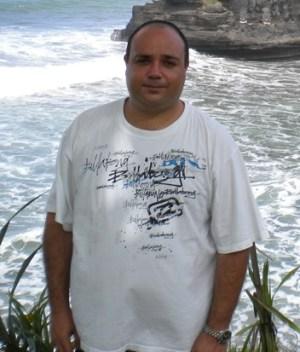 Una foto de 2010, pesando más de 110 Kg