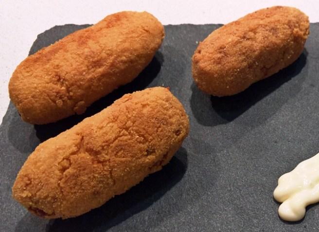 Detalle de la receta de croquetas low-carb para niños