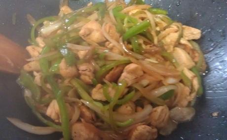 Preparación Wok de Pollo