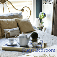 Guest Bedroom Winter Decor