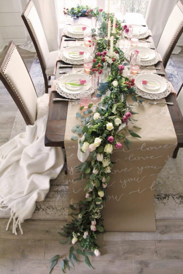 Clare and Grace Designs - shares her Galentines inspired tablescape