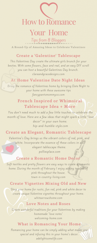 Romancing the Home Inspirational Ideas Infographic an 8 blog round up